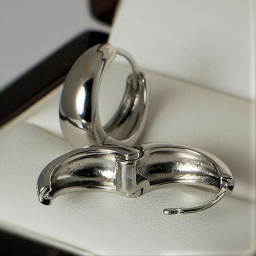 Silverish Salman Khan Inspired Silver Colour Kaju Bali Earrings For Men Imported Salman Khan Bali Hoop Huggie Silver Color Unisex