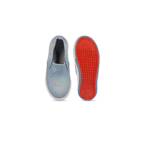 Walktrendy Kids Blue Slip-On Sneakers