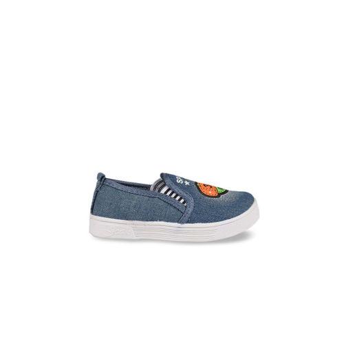 Walktrendy Kids Blue Slip-On Sneakers
