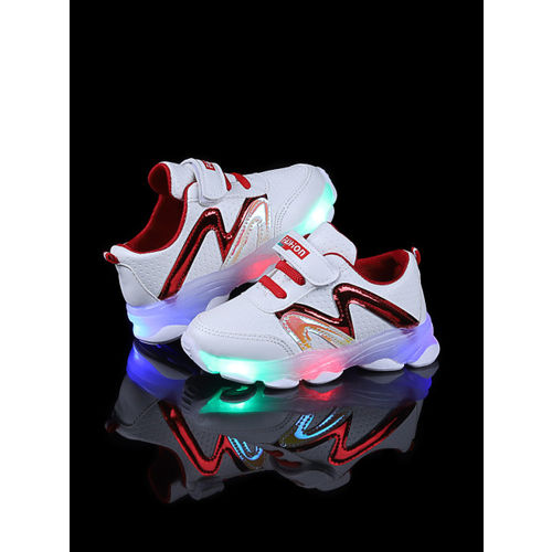 Walktrendy Unisex Red LED Sneakers