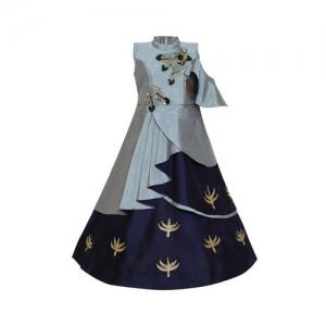 Aarika Girls Grey Embellished Maxi Dress