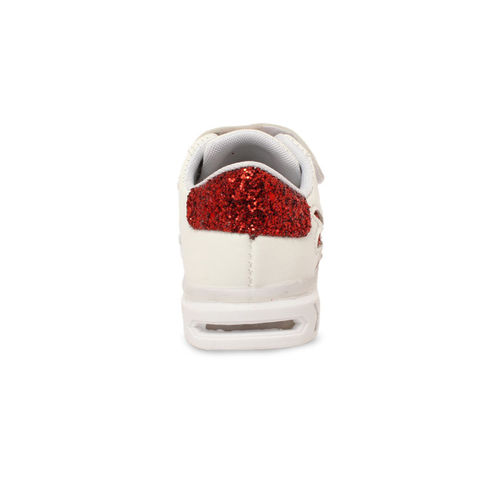 Walktrendy Kids Red Sneakers With LED Lights