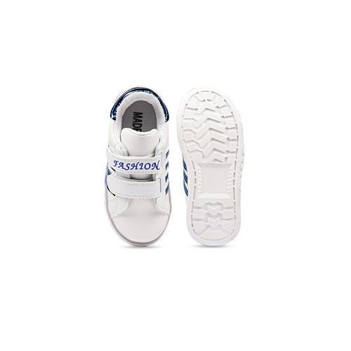 Walktrendy Unisex White Slip-On Sneakers With LED