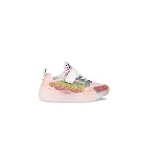 Walktrendy Unisex Pink Sneakers With LED Sneakers