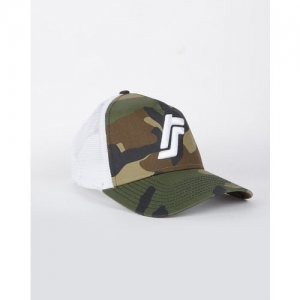 NEW ERA Camo Print Baseball Cap with Embroidery