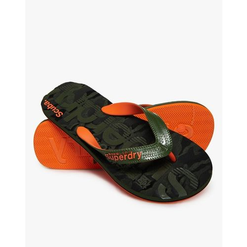 SUPERDRY Scuba Grit Flip-Flops with Signature Branding