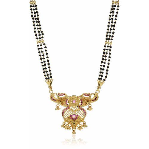 This Sukkhi Ethnic 24 Carat 1 Gram Gold Plated Mangalsutra For Women