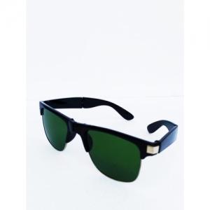 ecostty Green Polycarbonate Wayfarer Sunglasses