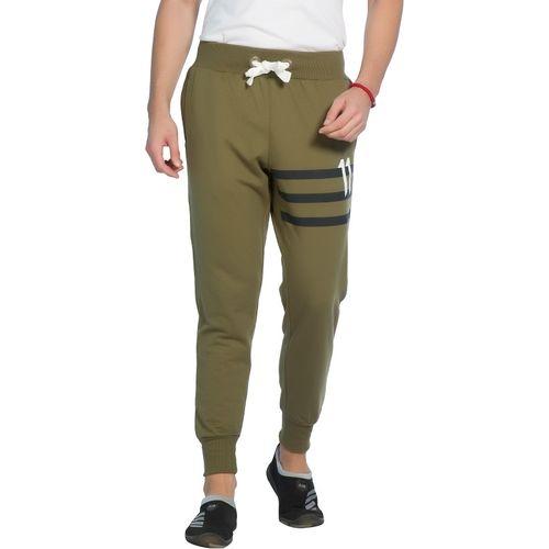 Alan Jones Solid Men Green Track Pants