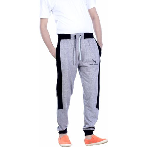 GYRFALCON Self Design Men Grey Track Pants