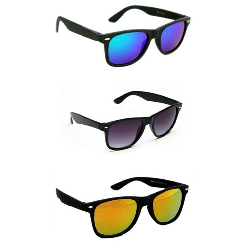 Derry Pack of Three wayfarer Sunglasses