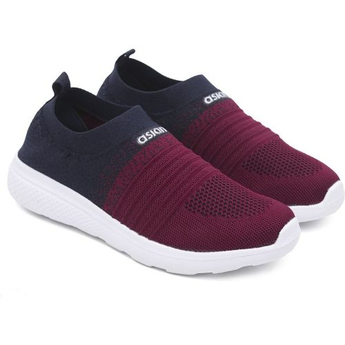 Asian Navy Blue Synthetic Slip-on Sports Shoes