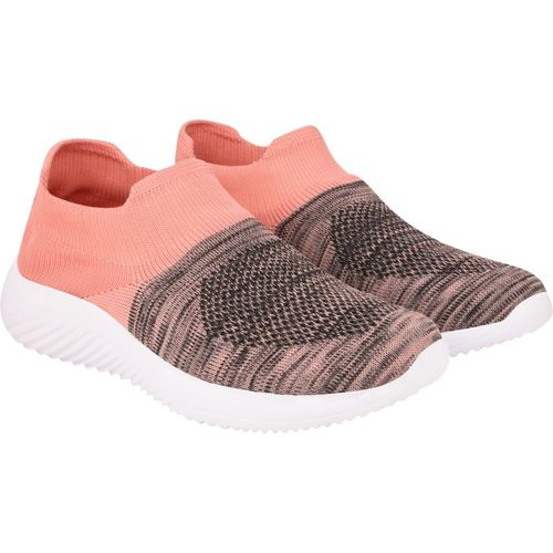 Hitcolus Orange Synthetic Slip-On Round Toe Sports Shoes