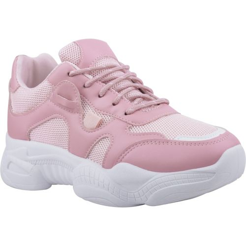 Cassiey Comfortable and Latest Casuals Shoes|Sports Shoes Athletic |Walking Shoes for Girls Casuals For Women(Pink, White)