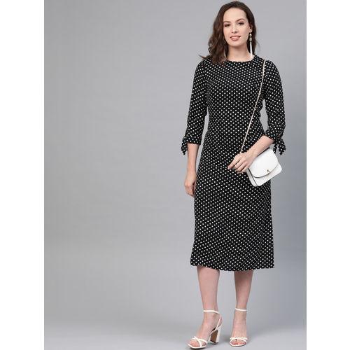 DOROTHY PERKINS Women Black & White Printed A-Line Dress