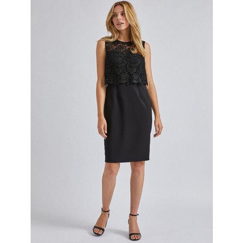 DOROTHY PERKINS Women Black Solid Sheath Dress