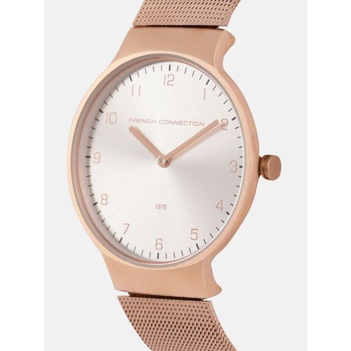 French Connection Women Silver-Toned Analogue Watch FC1301SRGM_HPOR11