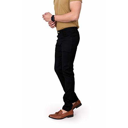 RAGZO Men's Black Slim Fit Stretchable Fabric Casual Wear Denim Jeans
