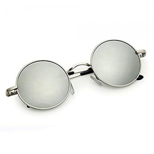 Phenomenal Silver Round Sunglasses