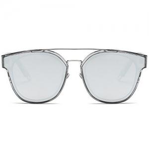 SOJOS Fashion Square Oversized Sunglasses for Women Mirrored Lens SJ2038
