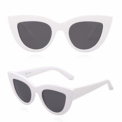 SojoS Retro Vintage Cateye Sunglasses for Women Plastic Frame Mirrored Lens SJ2939