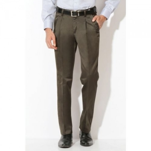 Van Heusen Slim Fit Men Grey Trousers