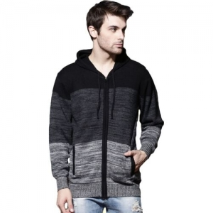 Roadster Solid Round Neck Casual Men Black, Grey Sweater