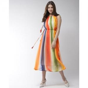 StyleStone multicolour polyester Chiffon Halterneck Dress