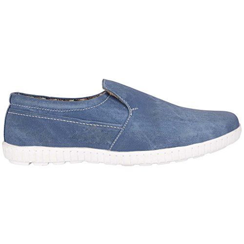 EVLON Men's Fashion Casual Wear Denim Loafers for Young Boys and Men - Size: 10 Blue