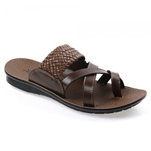 PARAGON Brown Synthetic Slip On Chappal (44 EU)(PU6870G)