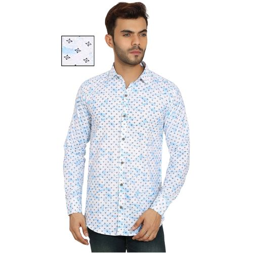 Spain Style Blue Origin Casual Poly-Cotton Shirt For Men Combo Of 3