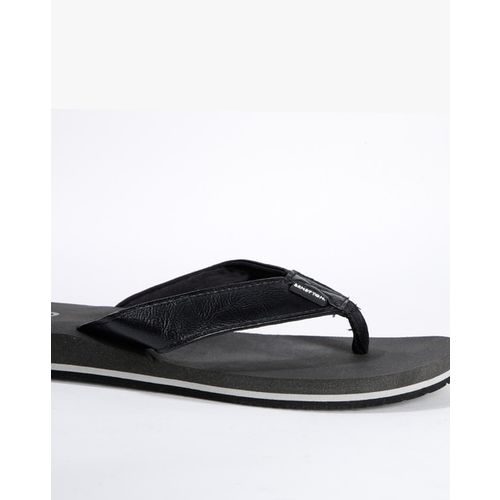UNITED COLORS OF BENETTON Textured Thong-Strap Flip-Flops