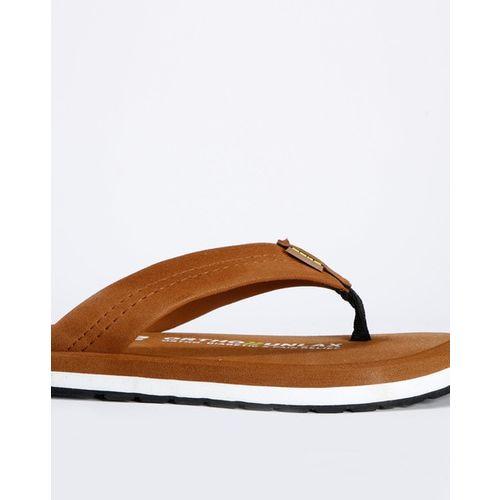 DUKE Textured Thong-Strap Flip-Flops