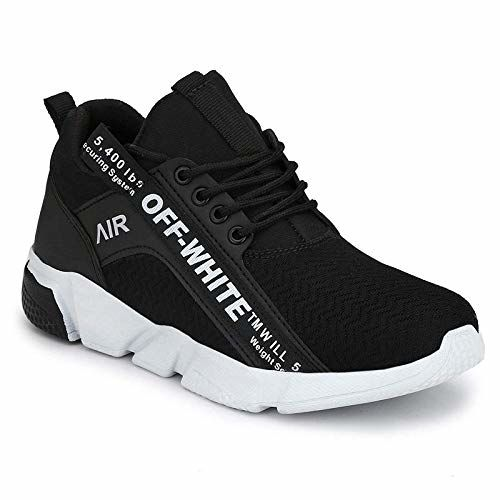 Ethics Black Mesh Sports Shoes