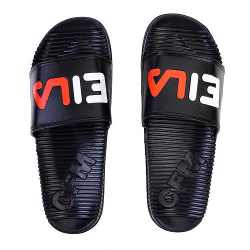 Edee Slide Black Slipper For Men's