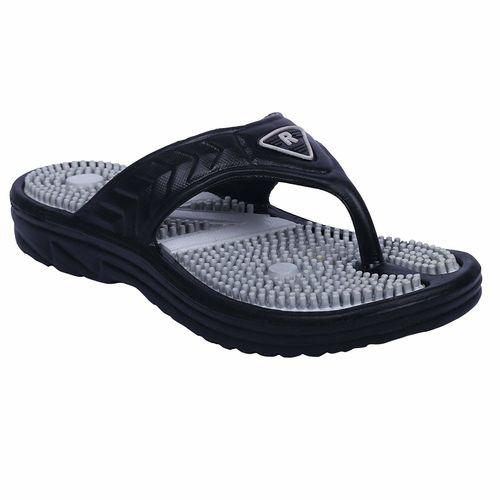 DzVR Black Unisex Acupressure Health Care PU EVA Casual Slippers