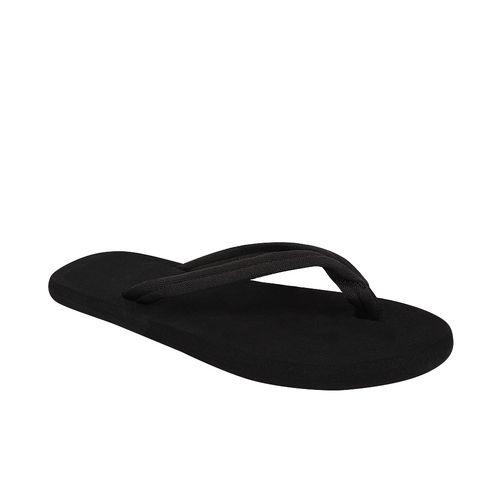 STYLE HEIGHT Men's Black Slippers