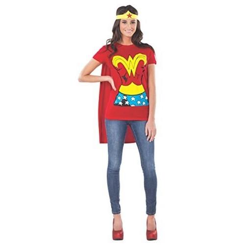 Morris Costume Wonder Woman's T-Shirt With Cape & Headband Costume