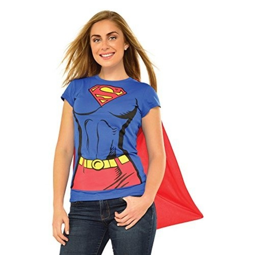 Rubie Costume Co Super-Girl T-Shirt With Cape Costume