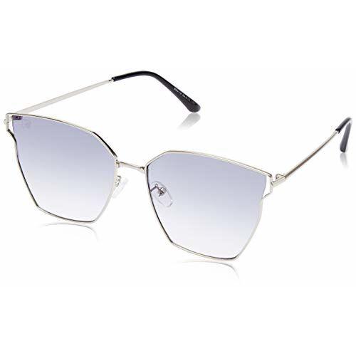 MTV Gradient Cat Eye Women's Sunglasses - (B80-79 Silver|62|Grey Color Lens)