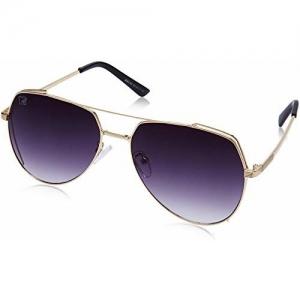 MTV Gradient Aviator Unisex Sunglasses - (B80-68 Golden|64|Grey Color Lens)