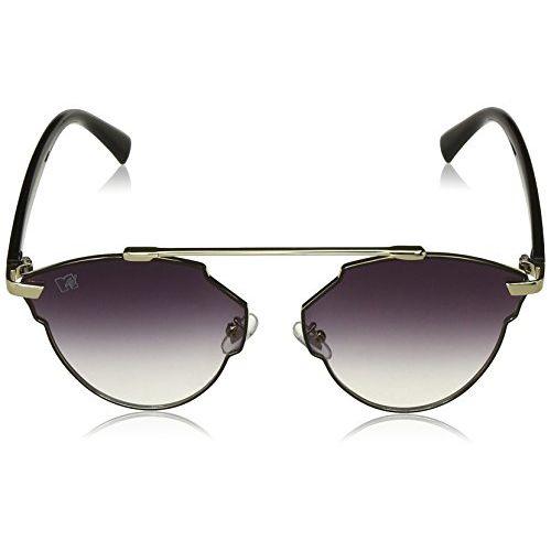 MTV Gradient Cat Eye Unisex Sunglasses - (MTV-160-C5|60|Grey Color Lens)
