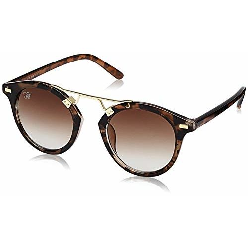 MTV Gradient Cat Eye Unisex Sunglasses - (MTV-169-C1|49|Brown Color Lens)