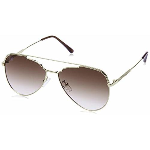 MTV UV Protected Aviator Unisex Sunglasses - (L80-91 Brown|57|Brown Color Lens)