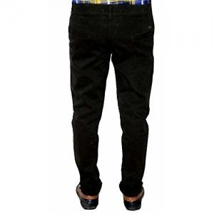 Aaron's Rod Men's Cotton Lycra Trouser Black Color Size 28