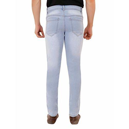 Generic SS Fashion Ice Blue Slim Fit Men Denim Jeans