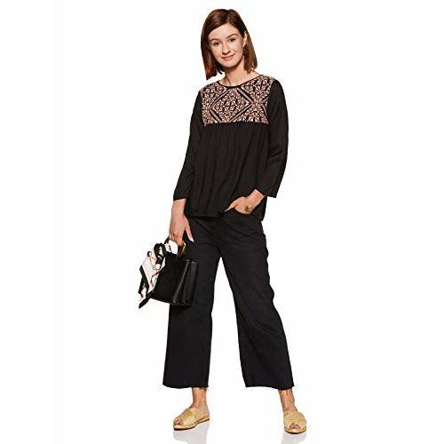 THE VANCA Women's Plain Regular Fit Shirt