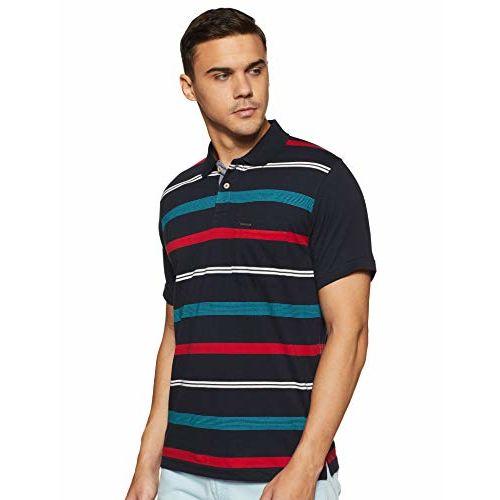 Proline Men's Striped Regular Fit Polo