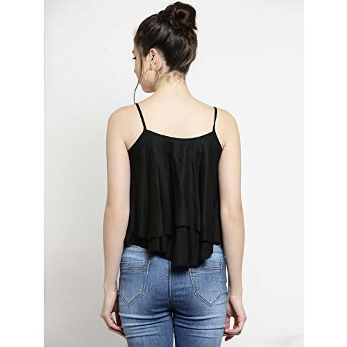 Everlush Rayon Embroidery Crop Top for Womens