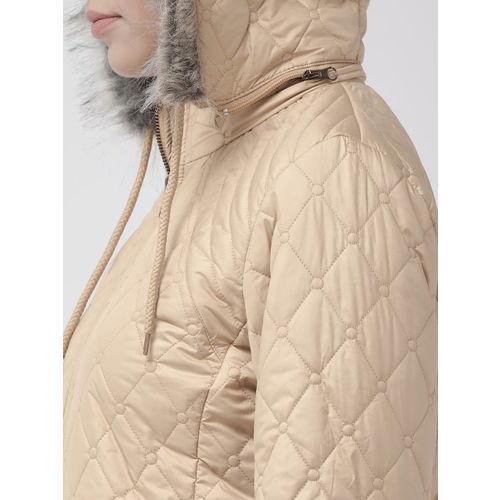 Fort Collins Women Beige Solid Lightweight Quilted Jacket